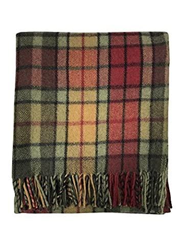 Scottish Highland Tartan Tweeds 100% Wolle Buchanan Herbst Tartan Teppich/Decke