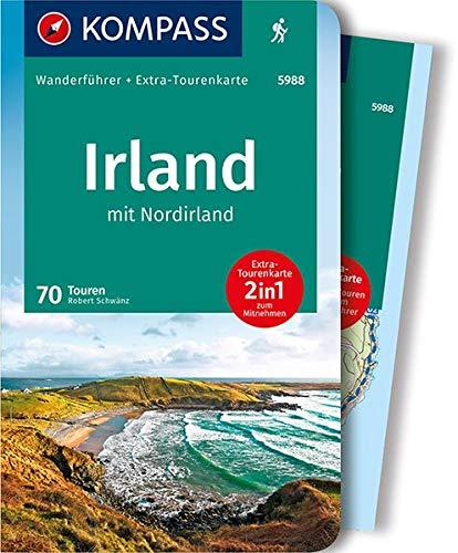 Irland mit Nordirland: Wanderführer mit Extra-Tourenkarte, 70 Touren, GPX-Daten zum Download. (KOMPASS-Wanderführer, Band 5988)