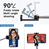 yoozon Bluetooth Selfie Stick,Lightweight Mini All in One Extendable Selfie Sticks with Built-in Remote Shutter Button for iPhone 11/11 Pro/11 Pro Max/XS MAX/XR/X,Galaxy Note 10/S10/S10E,Huawei,etc.