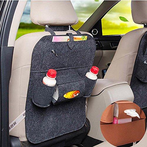 Sedeta Dossier de siège multi-poches sac de rangement Organisateur Boissons Maps Tissue Box Siège de voiture sac de rangement arrière Sac de rangement de siège arrière sacs à dos de rangement de siège