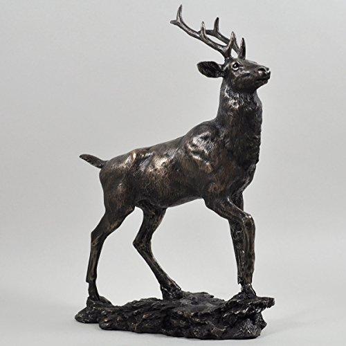 David Geenty Bronzeskulptur / Statue: Highland Monarch-Hirsch (Statue Monarch)