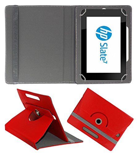 Acm Rotating 360° Leather Flip Case For Hp Slate 7 Hd Tablet Stand Cover Holder Red  available at amazon for Rs.104