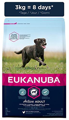 Eukanuba Adult Large Breed Trockenfutter (für erwachsene Hunde grosser Rassen, Premiumfutter mit Huhn), 3 kg Beutel - 6