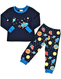 Tarkis Boys Universe Stars Pyjamas Tops and Trousers Pjs Outfit for 2 3 4 5 Years Old Kids by