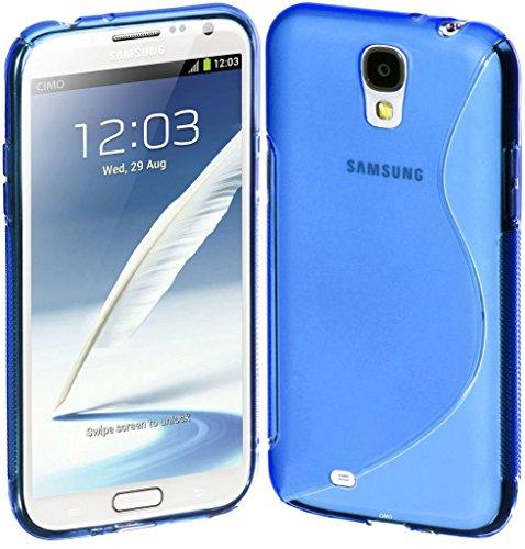 Blau S Line Wave Soft TPU Gel Back Case Cover Skin für Samsung Galaxy S5Case Cover Line Wave Tpu Case