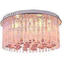 CNMKLM Moda fiori di cristallo Princess room lampada da soffitto ragazza romantica del soffitto della camera da letto luci di luce a soffitto