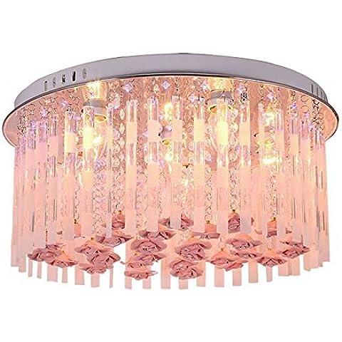 KMDJ Moda fiori di cristallo Princess room lampada da soffitto ragazza romantica del soffitto della camera da letto luci di luce a soffitto