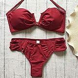 TTKMBN Bikini Donna Estate Due Pezzi Set Solido di Alta qualità Imbottito Push Up Swimwear Costume da Bagno da Bagno da Spiaggia