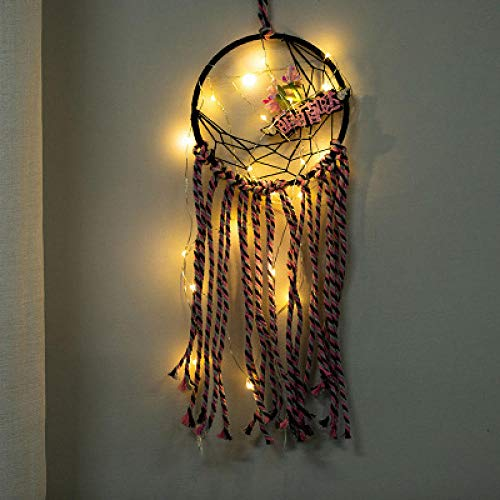 Sjjuan meng meng moon dreamcatcher hanging girl cuore wind bell air charm creativo studente regalo di laurea 11x50cm