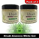 Khadi Natural Herbal White Alovera Gel    For Skin And Hair 180g   