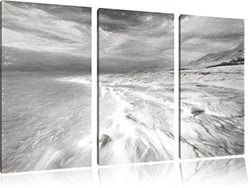 Il Mar Morto immagine giorno effetto disegno a carboncino 3