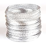 Creacraft Schmuckdraht-Set Silver Styles II, 25m Aluminiumdraht mit Verschiedenen Effekten (5m je Stil)