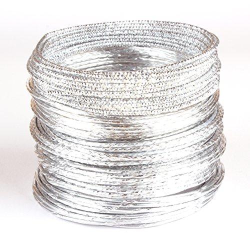Creacraft 25 mètres fil aluminium 2mm pour perlage et bijoux: cinq styles de argent II