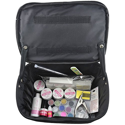 BF neue professionelle UV-Gel Nail Art Set & Beauty Make-up im freien Kosmetikerin Tasche Case #288J (Make-up Erweiterbar Tasche)