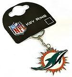 NFL Miami Dolphins Unisex Crest Keyring, Multi-Colour