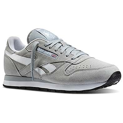 Reebok - Chaussures , de sport - CL LEATHER SUEDE - Taille EUR 45 - Couleur Gris