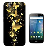 003254 - Golden butterflies Design Acer Liquid Z630 Z630S