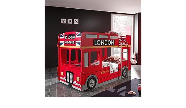 Etagenbett London Bus : Autobett bus etagenbett london mit leiter amazon küche