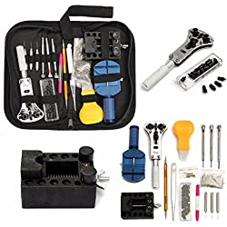 BABAN 144 Pcs Portable Watch Repair Tools Kit Back Case Opener Adjuster Remover Come with a Nylon Bag