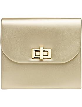CASPAR TA374 Damen stylisch elegante Clutch Tasche / Abendtasche mit langer Kette