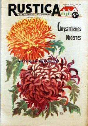 RUSTICA [No 18] du 05/05/1946 - CHRYSANTHEME MODERNES - PECHE A LA MOUCHE NOYEE - COMMENT DETRUIRE AU NID - LES OISEAUX DE PROIE