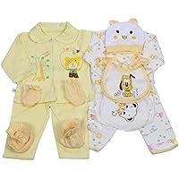 Jinyouju Newborn Baby Clothes Unisex Essential Layette Set 18pcs Cute  Infant Rompers 0-3 Months 4feba2e67