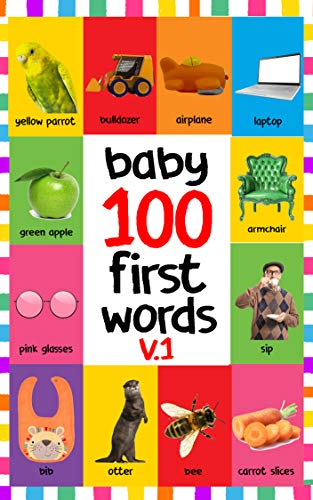 BABY 100 FIRST WORDS V.1: FLASH CARDS IN KINDLE EDITION, BABY ...