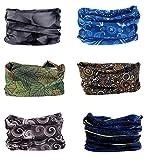 Multifunktionstuch Rohr Kopfbedeckungen Bandana Schal Elastische Halstücher für Yoga, Wandern, Reiten, Motorradfahren Cold Tone