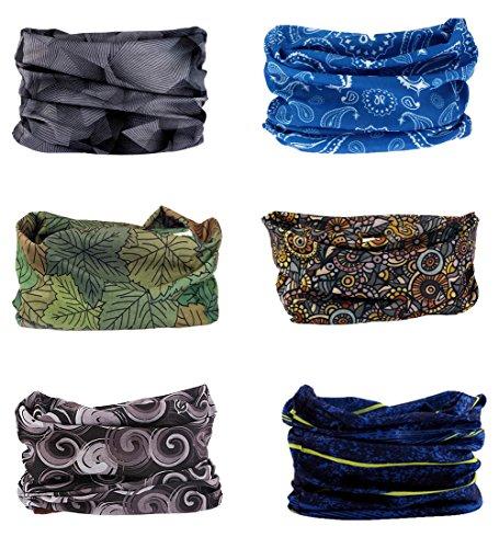 FAYBOX BRIDAL Sportliches nahtloses Schlauchtuch, Kopf- oder Halstuch, Multifunktionstuch, elastischer Nackenwärmer für Yoga, Wandern, Reiten, Motorradfahren, kalter Farbton (Bandana Sportliche)