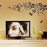 Hongrun Abnehmbare wand Aufkleber happy Flower rattan Sofa im Wohnzimmer Schlafzimmer tv-wand Dekoration Aufkleber Verkleidung 142*56 cm