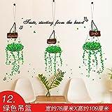 ALLDOLWEGE Kreativ Die Wallpaper Wallpaper selbstklebender Wand Kunst sticker aufkleber Schlafzimmer Bettsofa im Wohnzimmer Wände sind grün Warenkorb eingerichtet