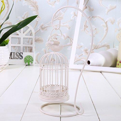 Chandelier cage,Fer Lanterne de type accrochant Décorations de noël Ornements de décorations créatives à la maison Accessoires de mariage romantiques-A 6x11inch