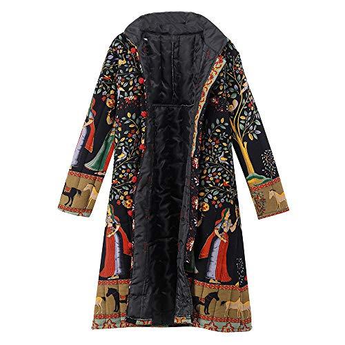 TOPKEAL Jacke Mantel Damen Herbst Winter Sweatshirt Drucktaste Steppjacke Kapuzenjacke Jahrgang Hoodie Langarm Vintage Pullover Warmer Outwear Coats Mode Tops -