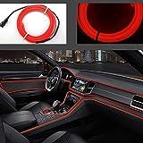 Striscia luminosa a LED flessibile con luci al neon, per auto, cavo elettroluminescente da 3 m, CC 12 V, per illuminazione a 360 gradi