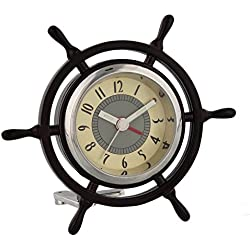 Miniature Captains Ships Wheel Novelty Ornamental Quartz Collectors Clock 9403