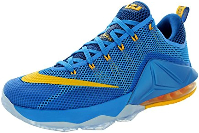 Nike Men's Lebron XII Low Basketball Shoe, Photo Blue/Unvrsty Gold/Gym Bl, 43 D(M) EU/8.5 D(M) UK