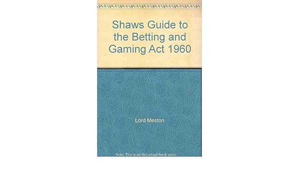 betting and gambling act 1960