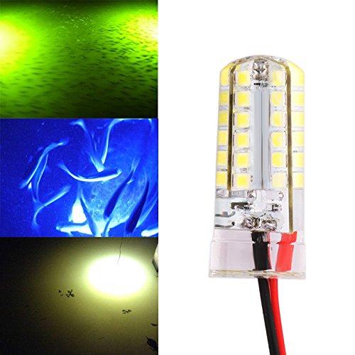 CALISTOUDE 12V Underwater Submersible Weiße LED-Lampen-Nacht zieht Fische an Snook Licht-Dock-dekorative helle Fischen-Köder-Licht (Einbauleuchten Dekorative)