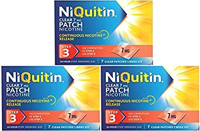 NiQuitin Clear 7mg Nicotine Patch (Step 3) 21 Patches - 3 Week Kit by GlaxoSmithKline