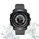 Tlgf Smartwatch, Bluetooth Smart Watch Impermeable Fitness Tracker Reloj con Monitor De Ritmo Cardíaco SMS Notificación De Llamada Cámara Remota Música,Black