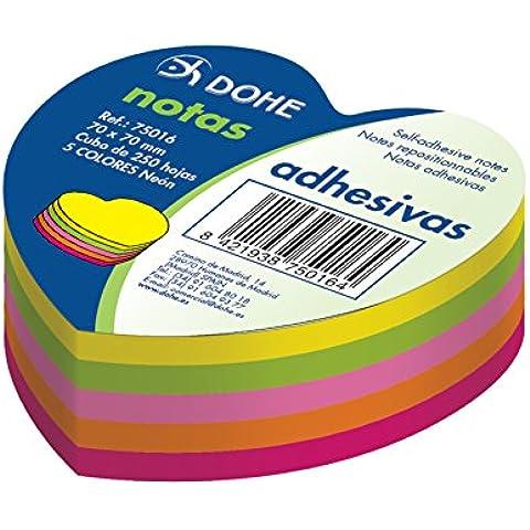 Dohe 75016 - Pack de 250 cubos de notas adhesivas en forma de
