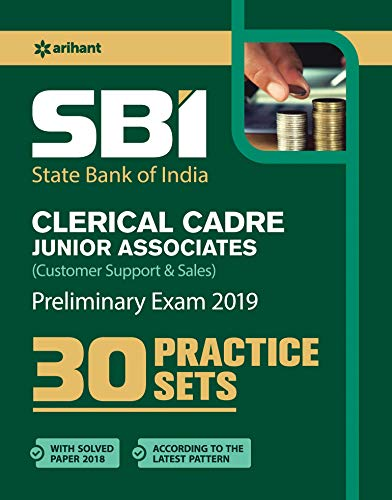 SBI 30 Practice Sets Clerical Cadre Junior Associates Preliminary Examination 2019