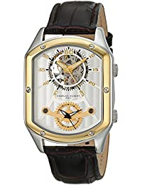 Charles-Hubert, Paris Men's 3965-T Premium Collection Analog Display Mechanical Hand Wind Brown Watch
