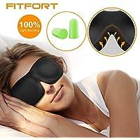 FITFORT Premium Schlafmaske 3D Schlafbrille - Augenmaske für Frauen & Herren Schlafen Bequem und Weich 100% Blackout... preisvergleich bei billige-tabletten.eu