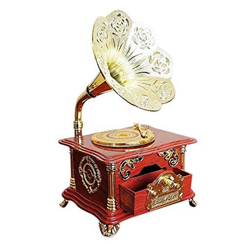 JVSISM Kreative Phonographen Spiel Uhr Schmuck Schatulle Geschenk Weihnachten Retro Spiel Dose Handwerk Innen Ausstattung Wohn Kultur Zubeh?r -