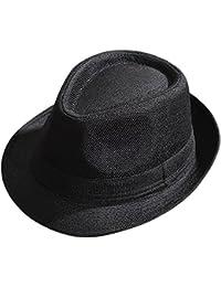 Gysad Protección Solar al Aire Libre Sombrero Panama Unisex Jazz Cap  Vintage Sombrero de Paja 2efc09055b1