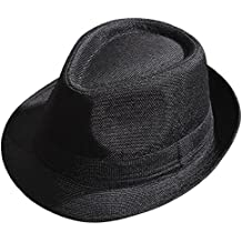 Kentop Jazz Cappello Uomo e Donna Paglia Cappello Panama Borsalino – Cappello  da Sole ad5295c27d7