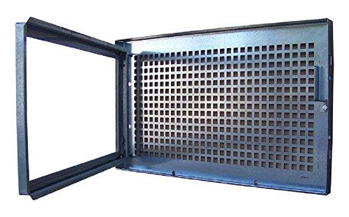 Stahlkellerfenster 80 x 40cm mit festem Schutzgitter incl. 4 Befestigungsschrauben