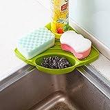 #4: E SHOPEE Creative Useful Multipurpose Must Have Corner Sink Wash Basin Storage Organizer Rack Tray Shelf Sponge Spoons Brush Soap Scrub Lotion Bottle Holder Drainer Suction Based Easy to use Kitchen Accessories (Pack of 1, Random Color)