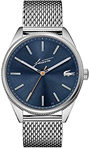 Lacoste Men's Heritage Quartz Watch with Stainless Steel Strap, Si